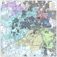Color coded map of the stormwater drainage inventory program